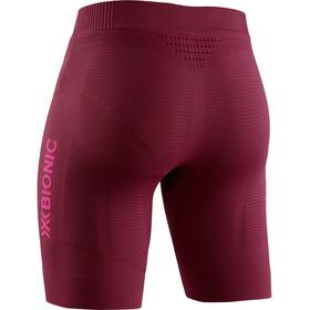 X-Bionic Invent 4.0 Run Speed Short Femme, namib red/neon flamingo